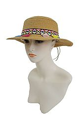 Vibrant Tassel Splash Of Color Boater Hat Styled Chic Hat