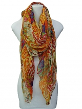 Floral Design Scarves And Wrapper