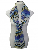 Striped Chiffon Scarf