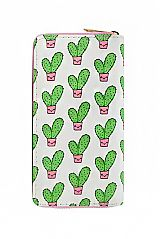 Animated Cactus Printed Fashion Wallet