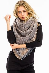 Statement Color Blended Oversize Blanket Scarves