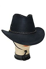 Single Braid Band Western Suede Felt Cowboy Hat