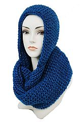 Classic Knitted Hooded Versatile Super Softness Scarf