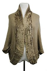 Thick & Short Shawl With Trimmed Faux Fur