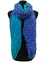 Heart and Solid Color Scarf