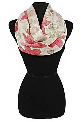 Colorful Flower Infinity Scarves