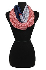 Geometric Pattern Super Softness Mini Infinity Scarf