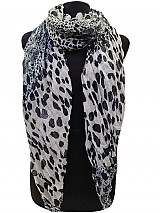 Animal Pattern Wrinkle Style Scarves