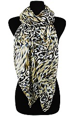 Animal Pattern Shinny Accent Softness Regular scarf
