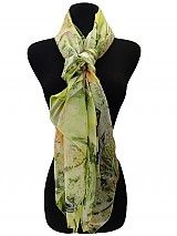 Fish & Nature Print Square Soft Scarves