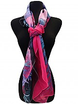 Soft Square Sea Printed Scarves