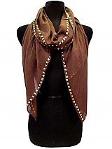 Soft Gauze Scarves with Studded Edges