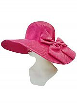 Big Abstract Jumbo Bow On Wired sun Hat