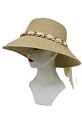 Full Bucket Shape Chiffon And Chain sunhat