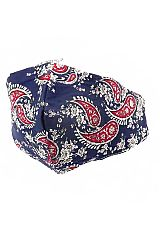 Paisley All Print Cotton Fabric Washable Face Mask with Ear Loops